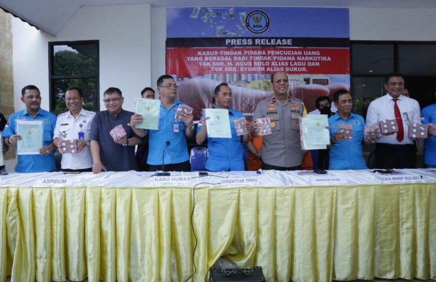 BNN Sita Semua Aset Dan Miskinkan Tersangka TPPU 16 Miliar Rupiah Dari Bisnis Narkoba Berkedok Pabrik Rak Telur/fajarbadung.com