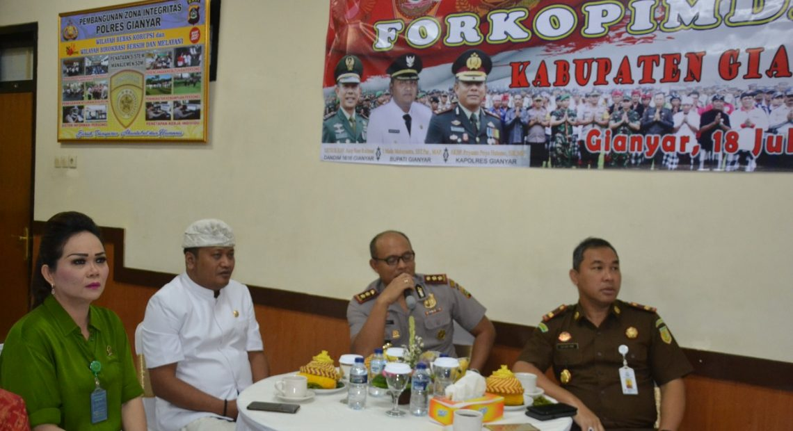 Coffe Morning Kapolres Gianyar Dengan Forkopimda Kabupaten Gianyar/fajarbadung.com,