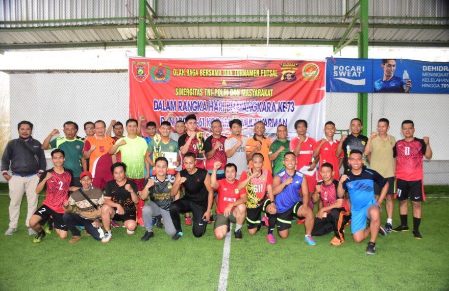 Pererat Kemitraan, TNI Polri Dan Jurnalis Adu Skill Di Lapangan Futsal/fajarbadung.com