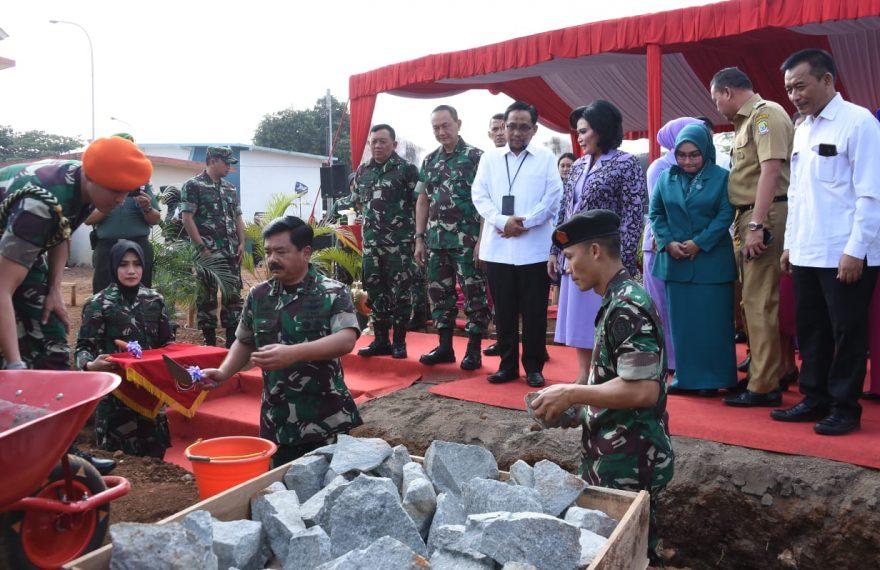 Panglima TNI Letakkan Batu Pertama Pembangunan PAUD Percontohan Yayasan Tunas Muda IKKT/fajarbadung.com