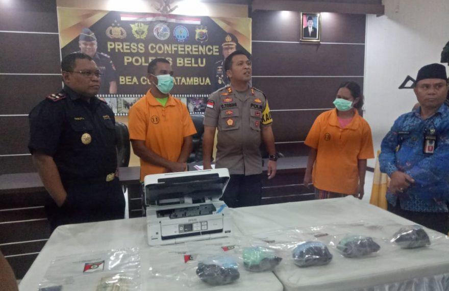Dua Tersangka Penyelundup 4.874 Ekstasi Yang Terancam Hukuman Pidana Seumur Hidup/fajarbadung.com