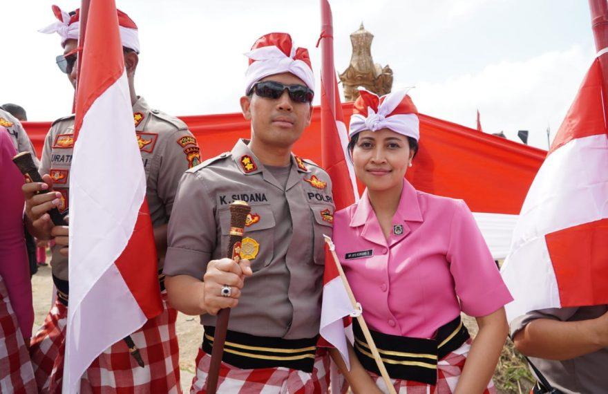 Pembentangan Bendera di Desa Jatiluwih Sepanjang 1500 Meter/fajarbadung.com