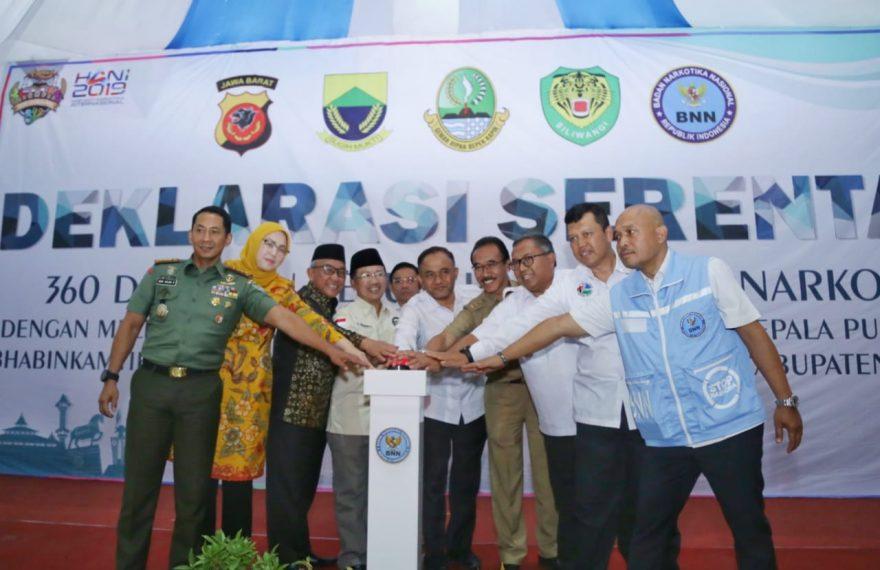 360 Desa Di Cianjur Serentak Deklarasikan Bersih Narkoba/fajarbadung.com