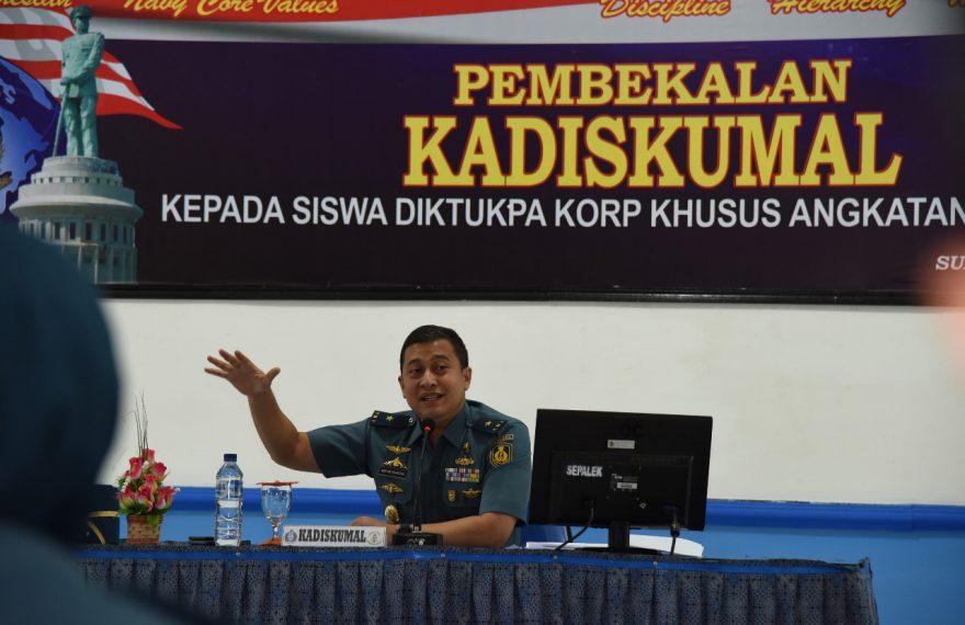 Siswa Diktukpa XLVIII Kodiklatal Dapatkan Pembekalan Kadiskumal Kodiklatal/fajarbadung.com