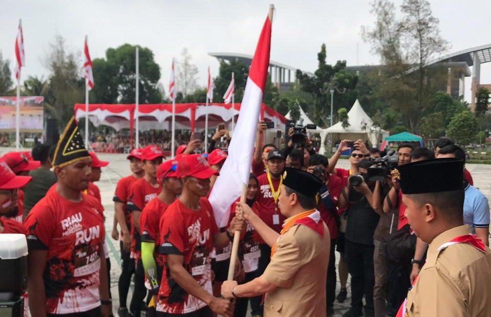Lari Riau Ultra Merdeka Run 2019, Serka Dewa Gede Astawa Menjadi Peserta Tercepat/fajarbadung.com