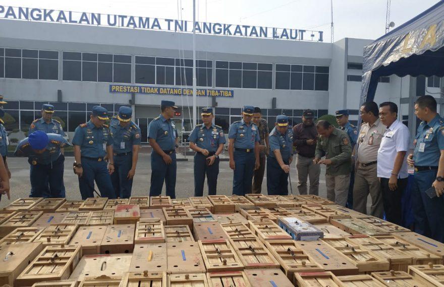 Satgas Intelmar FIQR Lantamal I, Koarmada I Tangkap Penyelundup Ayam Adu Asal Thailand/fajarbadung.com
