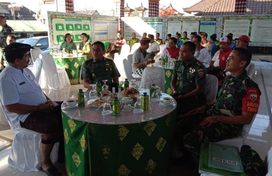 Tim Wasev Mabes TNI AD Kunjungi TMMD 105 Kodim Klungkung/fajarbadung.com