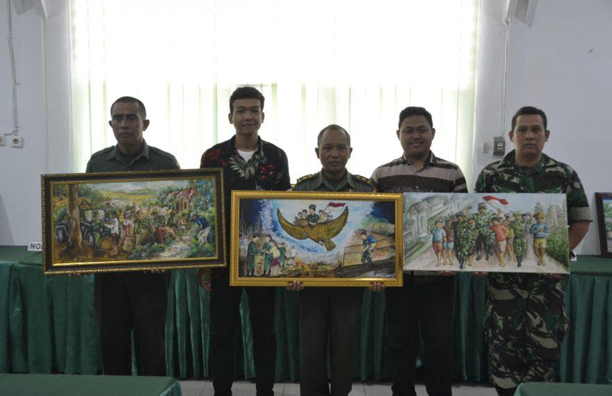 Wakil Kodim Gianyar Juarai Lomba Lukis Tingkat Korem/fajarbadung.com