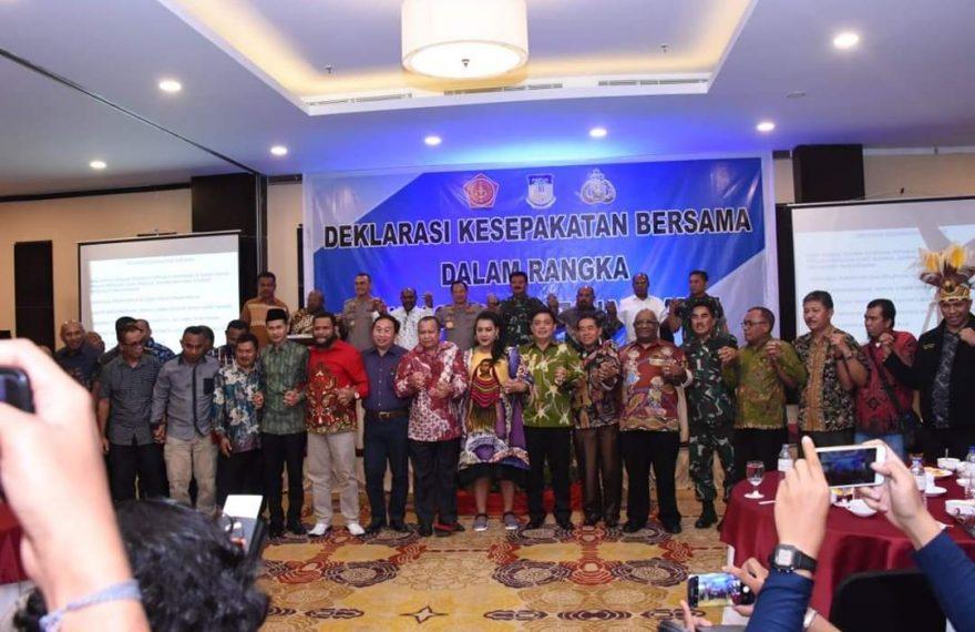 Deklarasi Papua Damai di Jayapura, Dihadiri Tokoh Lintas Agama/fajarbadung.com