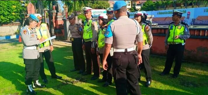 Ratusan Polisi yang Terlibat Ops Patuh Agung 2019 Dirazia Provos Polda Bali/fajarbadung.com