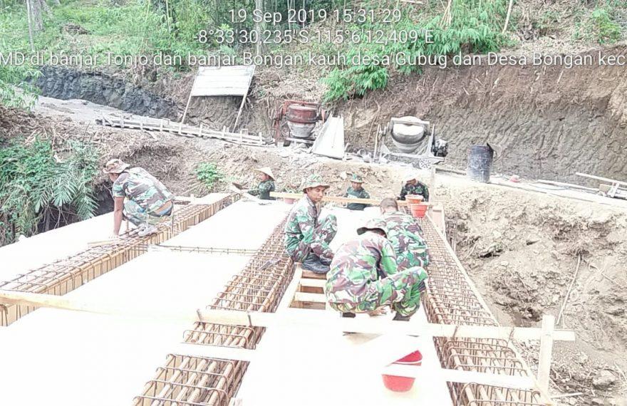 Pra TMMD Kodim Tabanan, Pembangunan Jembatan Capai 85 Persen/fajarbadung.com