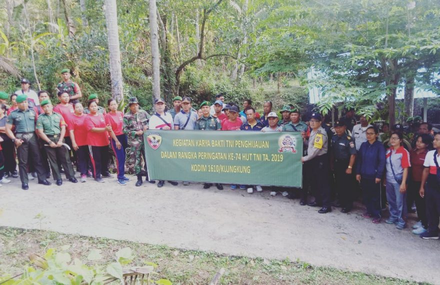 Kodim Klungkung Gelar Bakti Sosial dan Karya Bakti/fajarbadung.com