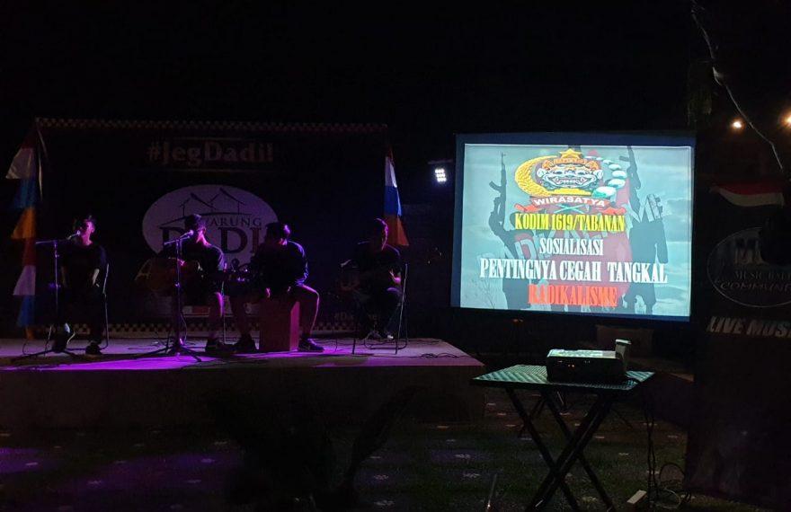 Kodim Tabanan Edukasi Music Bali Community (MBC) Tentang Penanggulangan Radikalisme/fajarbadung.com