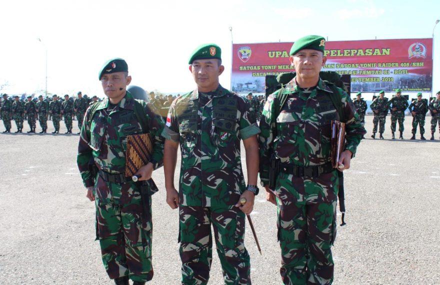Pangdam Selaku Pangkoops, Irup Pelepasan Satgas Pamtas RI-RDTL Tahun 2018/2019/fajarbadung.com