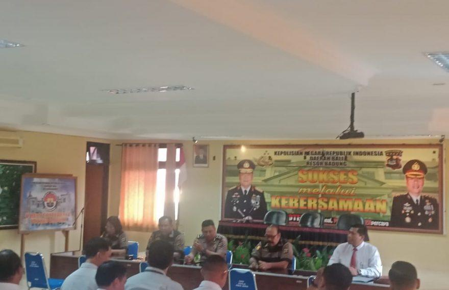 Polres Badung Menerima Tim Supervisi Dari Bidkum Polda Bali/fajarbadung.com