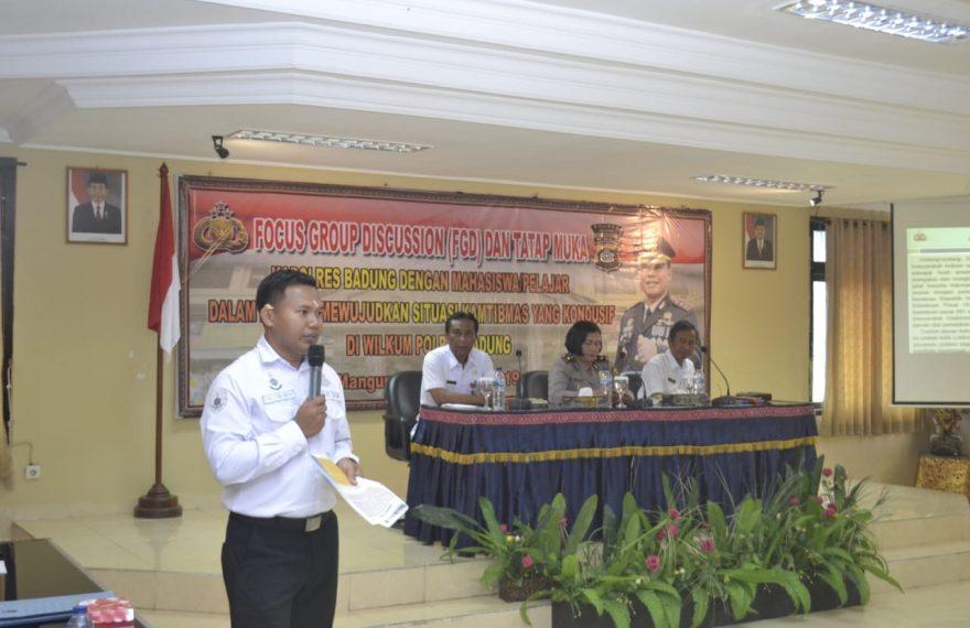 Polres Badung Gelar Fokus Group Descussion Dengan Mahasiswa/Pelajar/fajarbadung.com