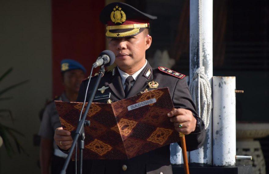 Kapolres Badung Pimpin Upacara Memperingati Hari Kesaktian Pancasila/fajarbadung.com