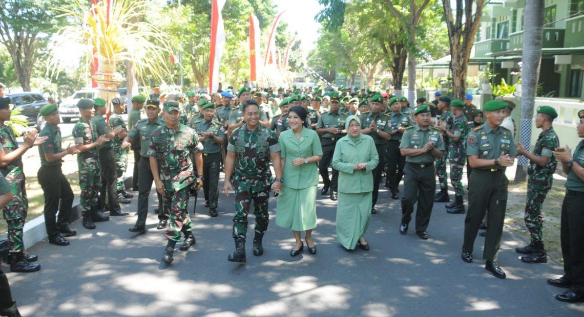 Kasad Kunjungan Kerja Di Wilayah Kodam IX/Udayana/fajarbadung.com