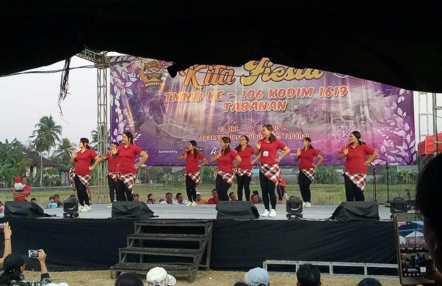Kita Fiesta TMMD Ke 106 Kodim Tabanan, Ada Lomba Senam Kreasi Gemu Famire/fajarbadung.com