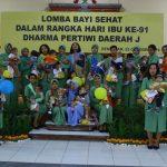 Sambut Hari Ibu, Dharma Pertiwi Daerah J Selenggarakan Lomba Balita Sehat/fajarbadung.com