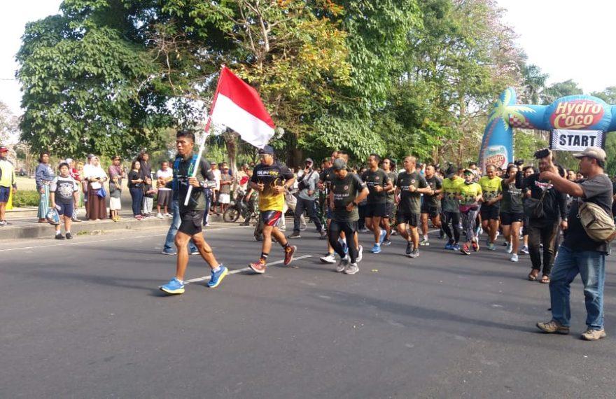 Run For Bali, Serka Dewa Gede Astawa Selesaikan Etape Pertama/fajarbadung.com