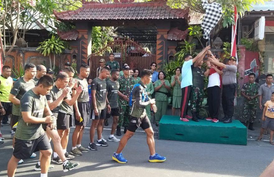 Run For Bali, Serka Dewa Astawa Finish Etape Kedua Kubu-Gerogak/fajarbadung.com