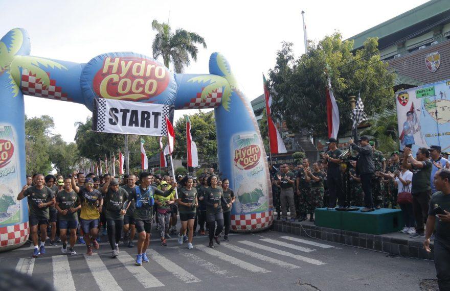 "Pangdam Bersama Wagub Bali Berangkatkan Even ""Run For Bali"" 374 Km/fajarbadung.com"
