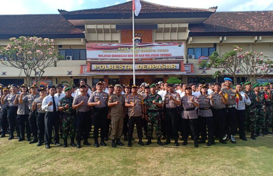 TNI-Polri Dan Pemerintah Daerah Apel Gelar Kesiapan Pengamanan Pemilihan Perbekel Serentak/fajarbadung.com