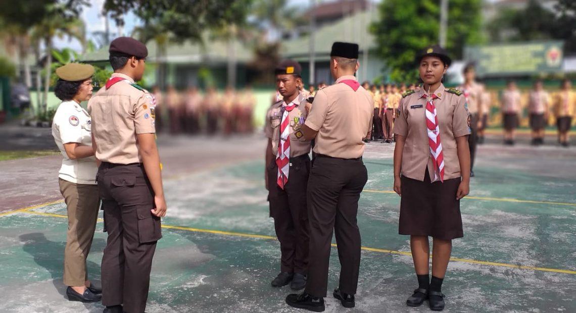 Binter Terpadu Kodim Klungkung Gelar Persami Saka Wira Kartika/fajarbadung.com