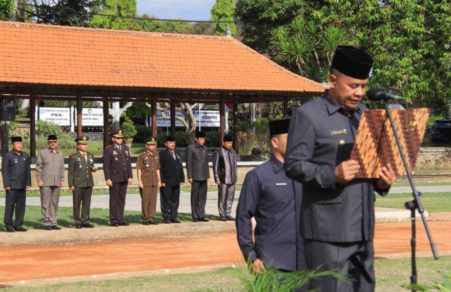 Wakapolres Bangli Hadiri Upacara Peringatan Hari Pahlawan di Lapangan Kapten Mudita/fajarbadung.com