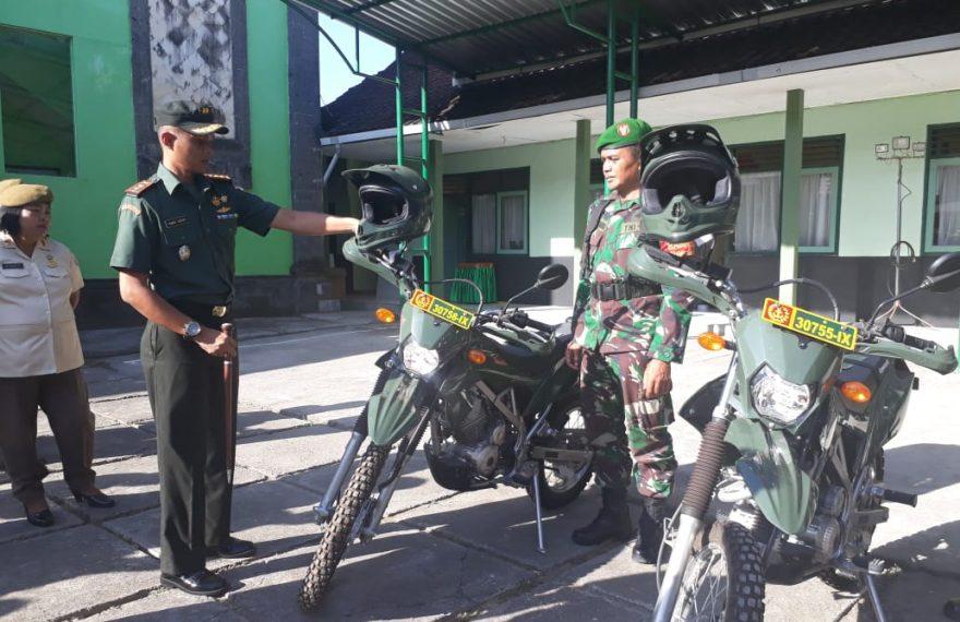 Dandim Gianyar : Manfaatkan Sepeda Motor Dinas Untuk Operasional Tugas di Wilayah/fajarbadung.com