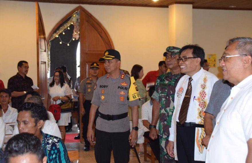 Forkompinda Kompak Pantau Situasi Kamtibmas di Malam Natal/fajarbadung.com