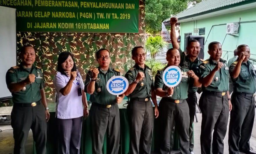 Kodim Tabanan Sosialisasikan Bahaya Narkoba/fajarbadung.com