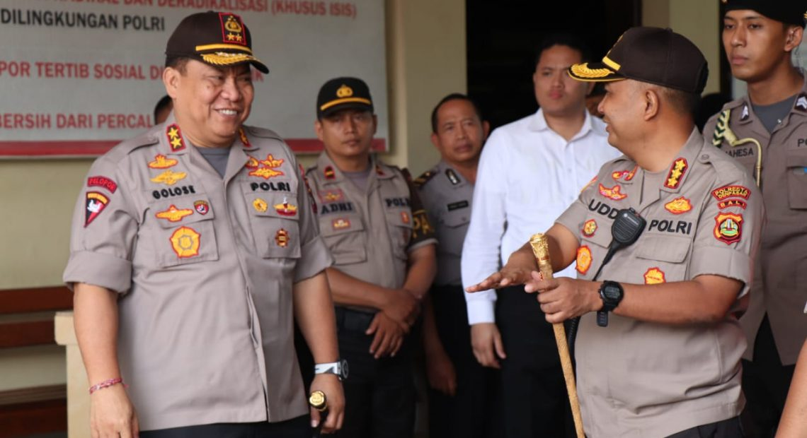 Kunjungi Mako Polresta Denpasar, Kapolda Bali Tinjau Pembangunan Ruang Tahanan/fajarbadung.com