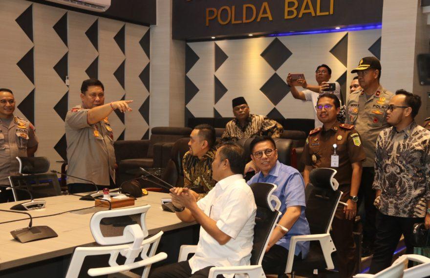 Kunjungan Kerja Komisi III DPR RI, Gedung Command Center Polda Bali Mendapat Apresiasi/fajarbadung.com
