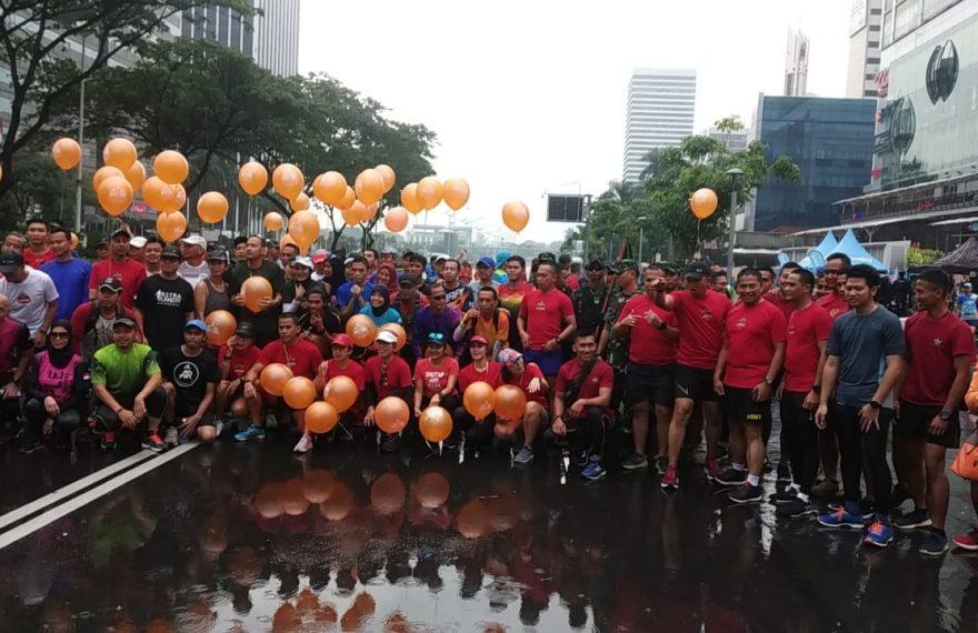Hujan Tidak Menyurutkan Komuniti Lari Tetap Semangat Sambut Event Jayakarta Loe Gue Run 2020/fajarbadung.com