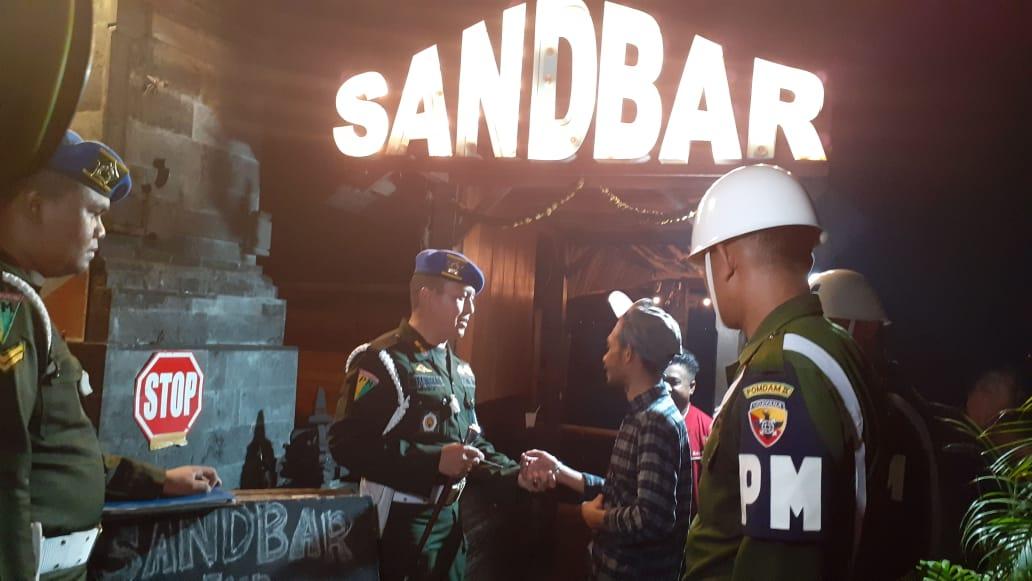 Dandenpom Pimpin Razia Gabungan THM di Wilayah Denpasar dan Badung/fajarbadung.com