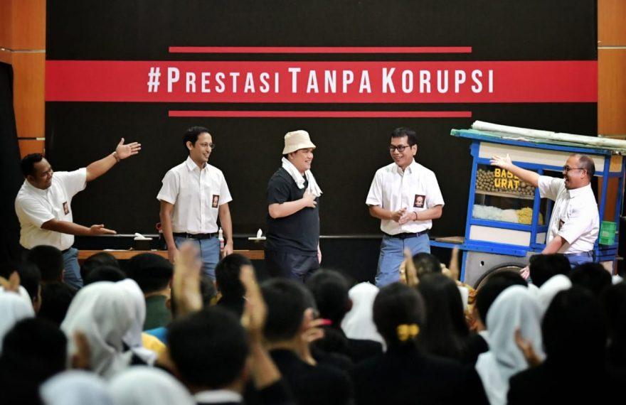 Tiga Menteri Perankan Drama Unik, Berikan Pesan Anti Korupsi kepada Siswa/fajarbadung.com