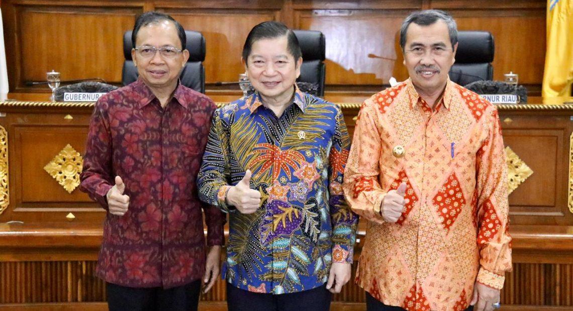 Dipuji Menteri PPN/Kepala Bappenas, Bali Siap Dukung Pembangunan Rendah Karbon/fajarbadung.com