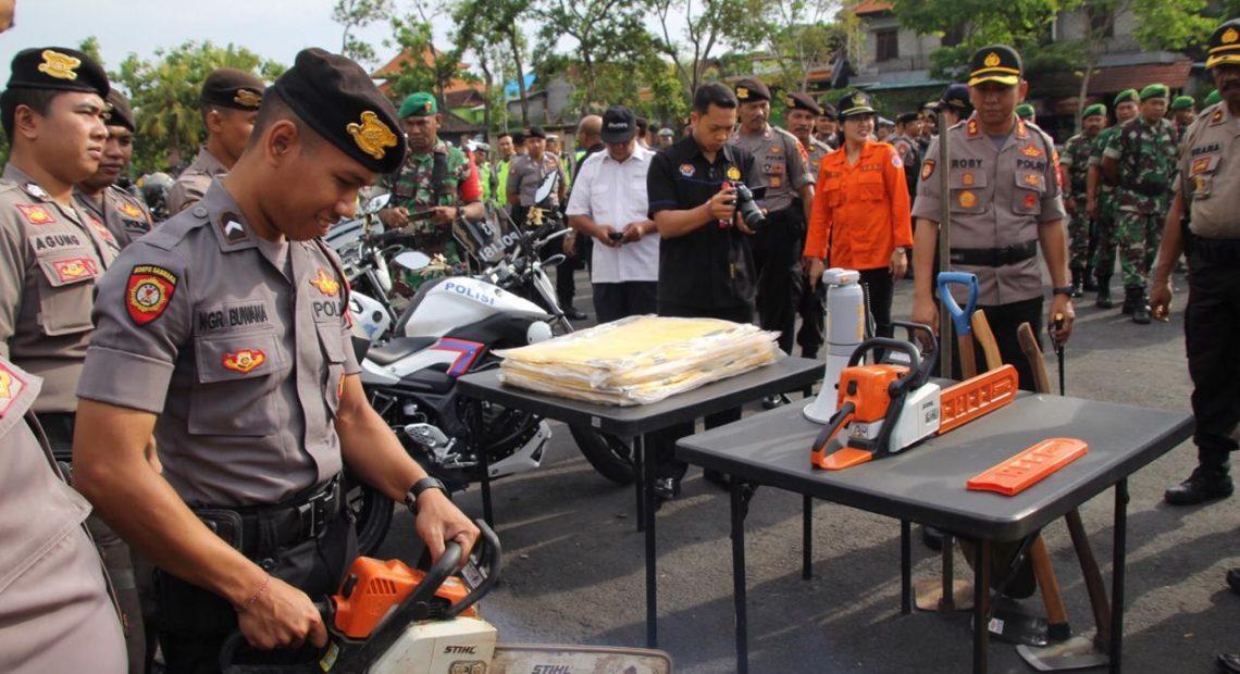Polres Badung Gelar Apel Siaga Penanggulangan Bencana Alam/fajarbadung.com