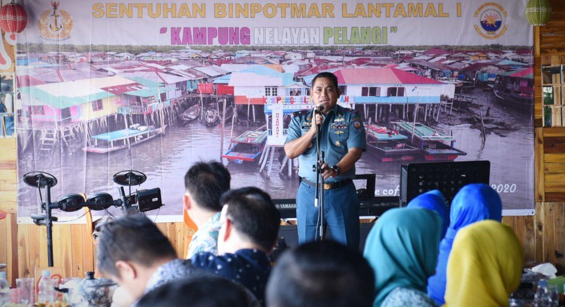 Danlantamal I Canangkan Kampung Nelayan Menjadi Kampung Pelangi Belawan/fajarbadung.com