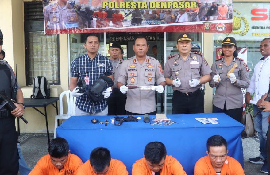 Lakukan Curat Disejumlah TKP Empat Pelaku Diamankan Polsek Denpasar Selatan/fajarbadung.com