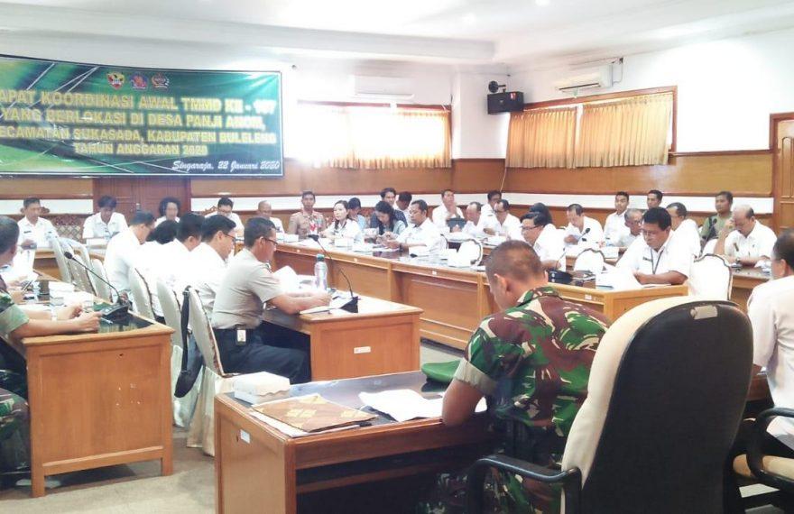 Pemkab dan Kodim Buleleng Gelar Rakor, Matangkan Kesiapan TMMD ke 107 di Desa Panji Anom Sukasada/fajarbadung.com