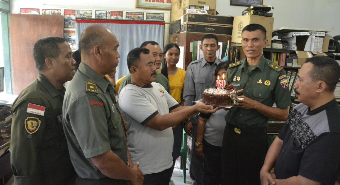 """Penrem 163 Wira Satya Peringati Hut Ke 69 Penerangan TNI Angkatan Darat, """"Citra TNI AD Adalah Kita/fajarbadung.com"""