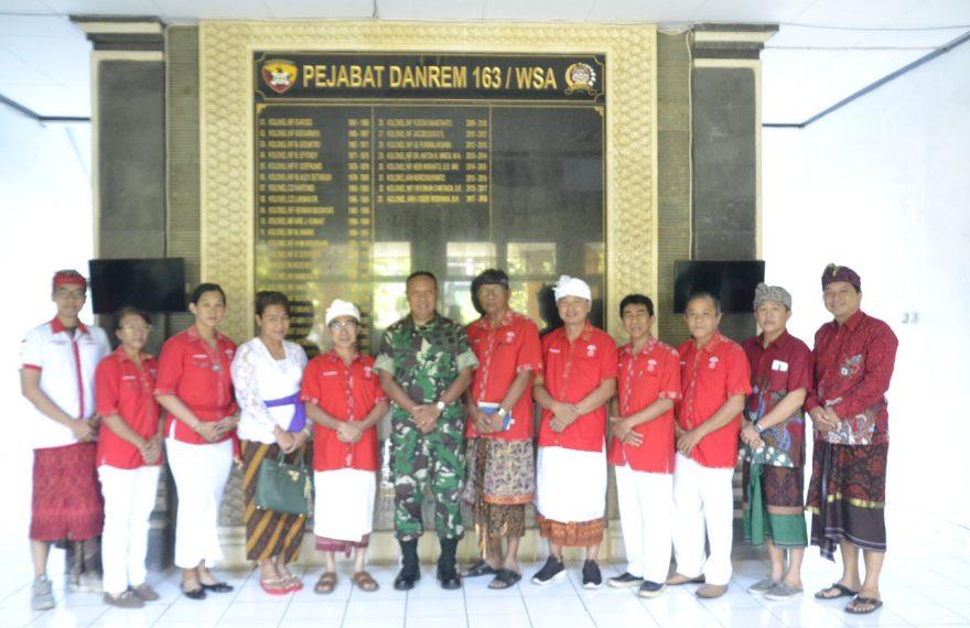 Danrem 163 Wira Satya Terima Audiensi Perhimpunan Indonesia Tionghoa (INTI) Provinsi Bali/fajarbadung.com