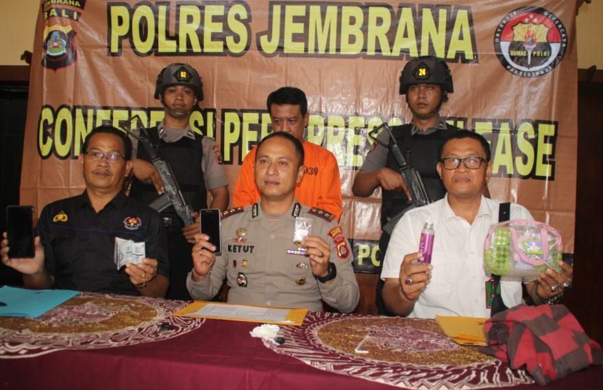 Polres Jembrana Gelar Pengungkapan Kasus Narkotika Jenis Sabu/fajarbadung.com