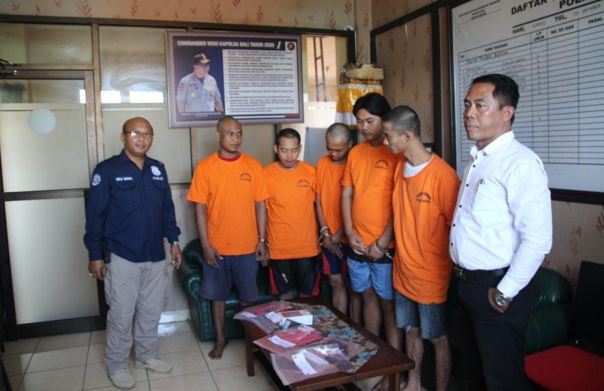 Satnarkoba Polres Badung Ciduk Lima Tersangka Narkotika/fajarbadung.com