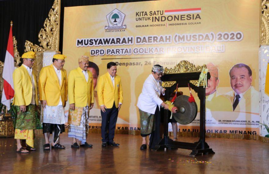 Cok Ace Minta Golkar Bali Berkontribusi Majukan Pembangunan Bali/fajarbadung.com