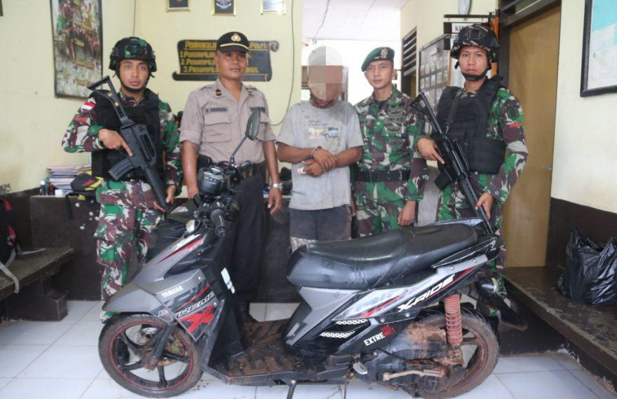 Satgas Yonif MR 411 Kostrad Gagalkan Aksi Curanmor di Jalan Trans Papua/fajarbadung.com
