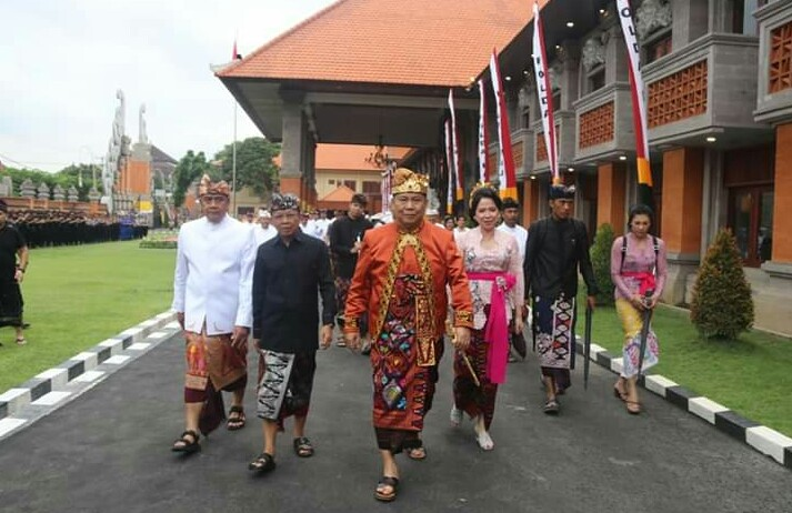 Kapolda Bali Membuka Acara Aktualisasi Restorasi dan Modernisasi Mako Polda Bali/fajarbadung.com